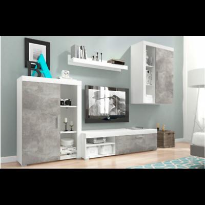 * Miglior Prezzo * Moder Salotto Set Unità Muro Arredamento Bianco/luce Atelier * Vendita-mostra Il Titolo Originale