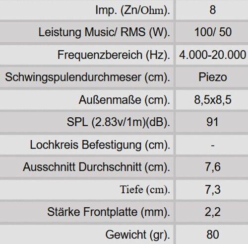 Dibeisi Piezo Hornhochtöner F32 8Ohm 100Watt