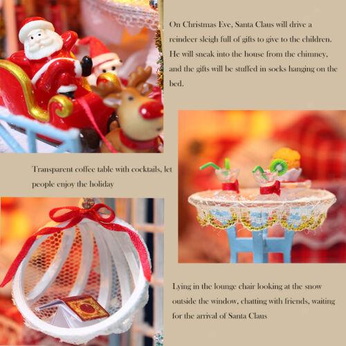 3D DIY Puppenhaus Miniatur Möbel Kit LED Licht Puppe Haus Spielzeug Kind