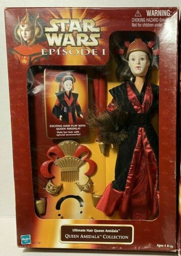 1998 Hasbro Star Wars Episode I Ultimate cheveux collection Queen Amidala-New in Box