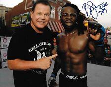 Kevin Ferguson Jr Baby Kimbo Slice Signed Bellator 8x10 Photo w WWE Jerry Lawler