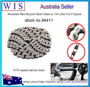 Professional-Mountain-Bike-Bicycle-Steel-Chain-with-116-Links-For-8-Speed-96411