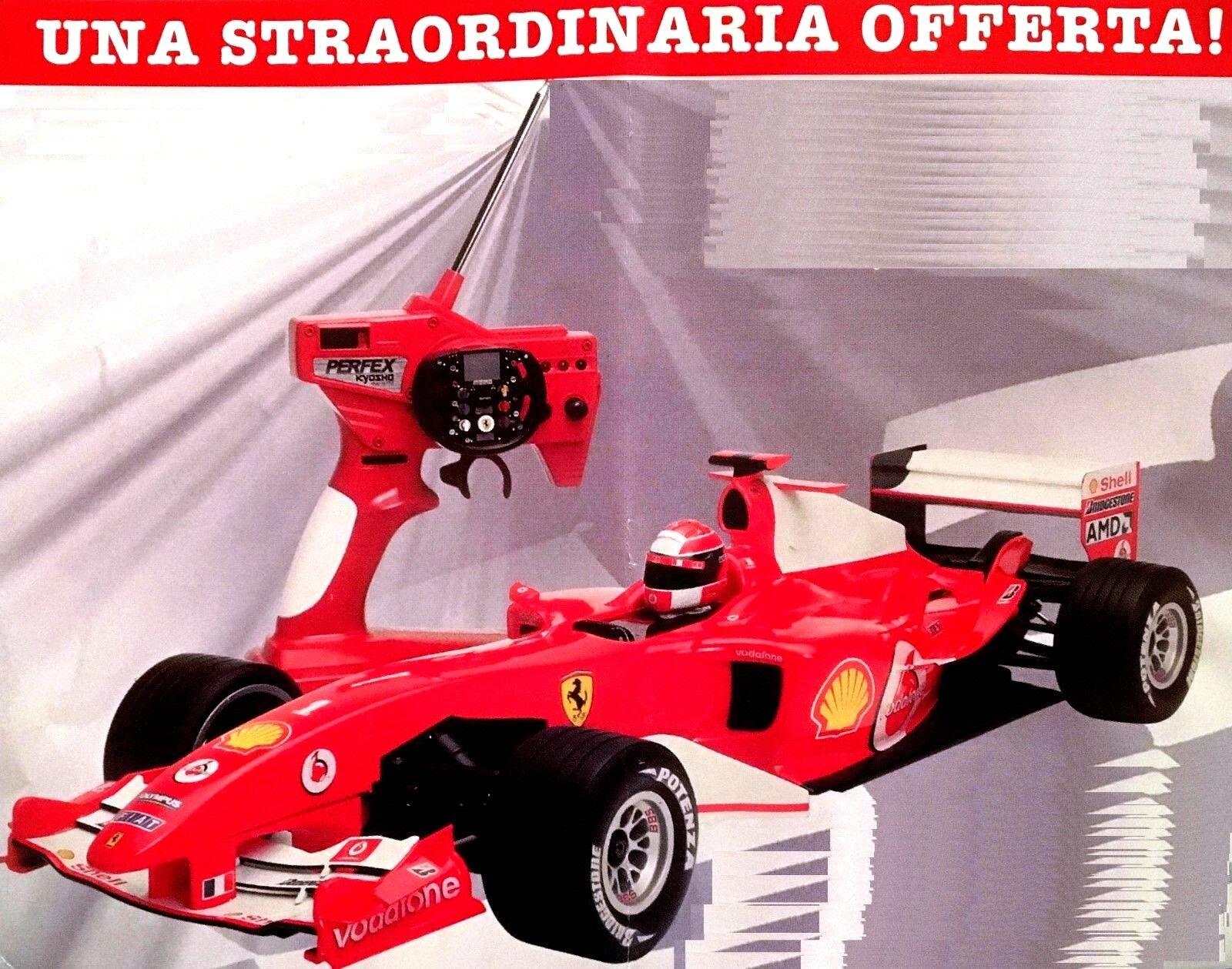 Ferrari F2004 radiocomandata con motore a scoppio  Nuova  mai montata  +2 Omaggi