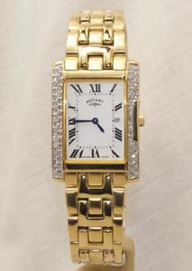 Rotary-GB09155-21-Men-039-s-Gold-Plated-Crystal-Set-Slim-Bracelet-Watch-RRP-325-00