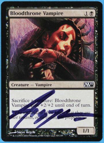 Bloodthrone Vampire Magic 2011 s1314 M11 NM Artist Signed CARD ABUGames