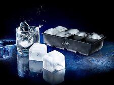 XXXL Silikon Eiswürfelform für 8 Eiswürfel 5x5cm (1 Liter Wasser) 8-Fach Eisform