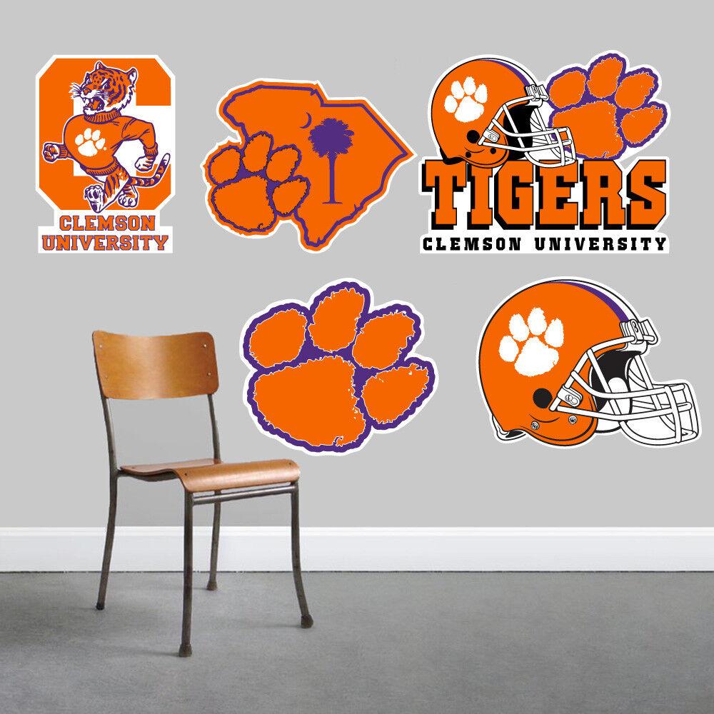 Clemson Tigers parojo arte conjunto de 5 piezas de gran tamaño --- NUEVO ---