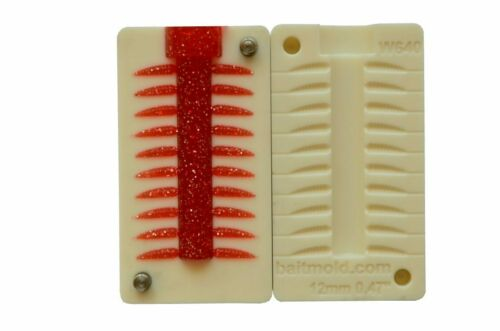 12 mm CNC Mold DIY Injection Bait Mold Maggot 20 Cavity  0.47″ inch
