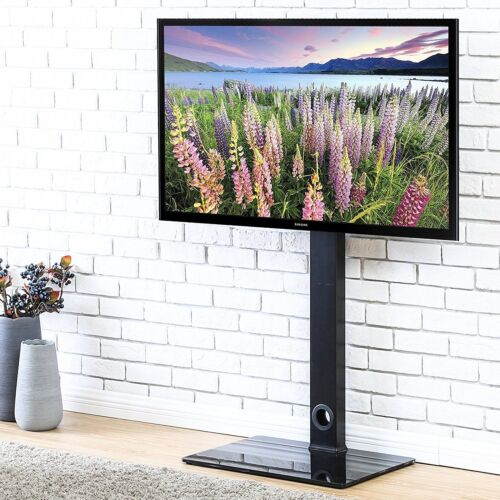 Universal TV Stand With Swivel Mount Height Adjustable For Flat Screen TV