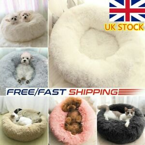 Shag-Faux-Fur-Donut-Cuddler-Pet-Bed-Dog-Beds-Soft-Warm-for-Medium-Small-Dogs-Cat