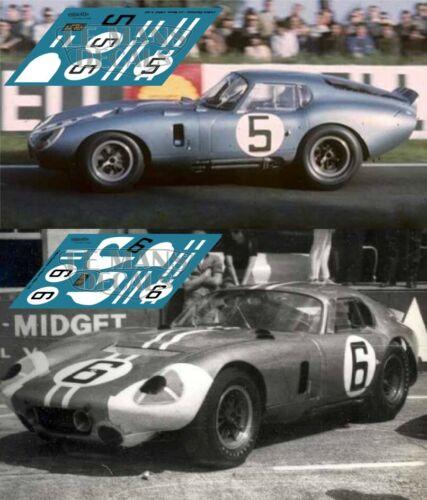 Calcas AC Shelby Cobra Daytona Le Mans 1964 5 6 1:32 1:24 1:43 1:18 slot decals