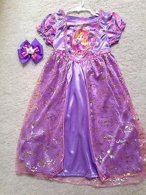 New Disney Purple Rapunzel Girls Nightgown Play-Dress Size 4,6,8