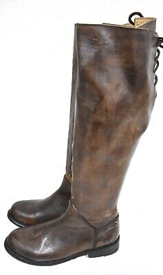 New Bed Stu Manchester Teak Glaze Cobbler Series Tall Lace Up Leather Boots 6.5
