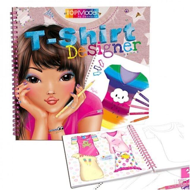 TOPModel T-Shirt Designer Colouring Book