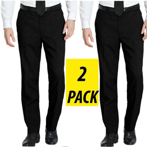 2 Packs homme ceinture Formel Smart Casual Bureau Pantalon Business Robe Pantalon