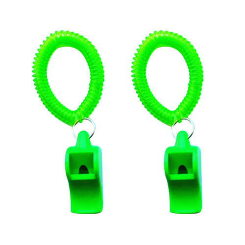 2 x Emergency Safety Whistle Wrist Coil Scuba Diving Watersports Survival Rescue