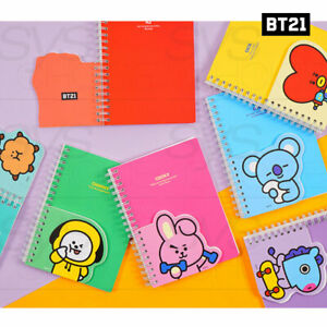 BTS BT21 Official Authentic Goods Double form Notebook 125 x 165mm By Kumhong
