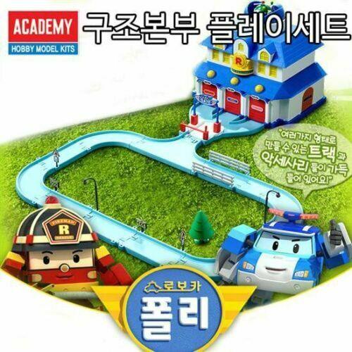 Academy Robocar Poly Rescue Center Play Premium Perfect Toy Set Kids Gift iaj