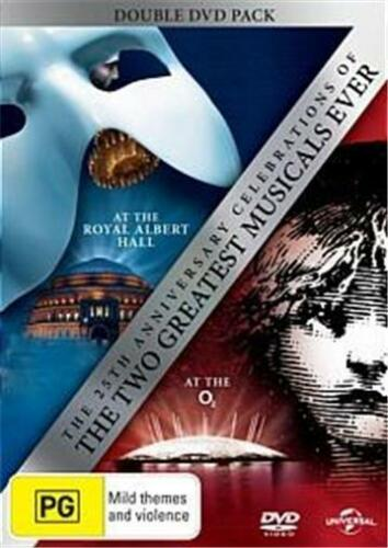 1 of 1 - LES MISERABLES / PHANTOM OF THE OPERA 25th Anniversary : NEW DVD