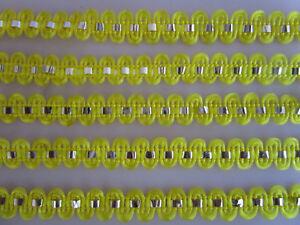 10-METER-Borte-Spitze-Nichtelastisch-Gelb-silber-1cm-Elegante-F019H