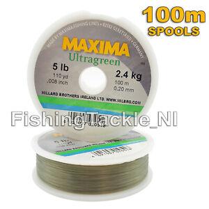 Maxima-Ultragreen-Fishing-Line-100M-Spools-Hi-Tensile-Monofilament-2lb-30lb