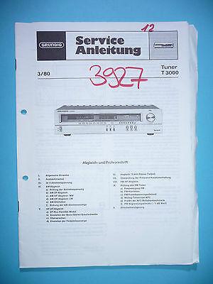 Service Manual Für Grundig T 3000 original Um Eine Reibungslose üBertragung Zu GewäHrleisten Tv, Video & Audio