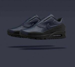 Nike Air Max 90 SP Sacai Womens Leather Athletic Casual Shoes Navy Blue 6.5