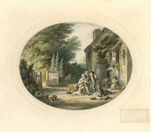 19th-Century-Lithograph-The-Burning-Glass