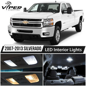 2007 2013 Chevy Silverado White Led Interior Lights Package Kit Ebay
