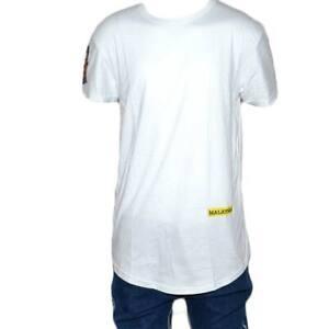 T-shirt Maglietta a maniche corte con stampa PEACE LOVE LAUGH Collo rotondo....