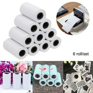 6-Roll-57X30mm-Self-adhesive-Thermal-Sticker-Printing-Paper-for-Paperang-Photo
