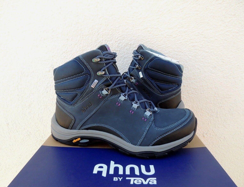 AHNU MONTARA III BLUE SPELL WATER-PROOF LEATHER HIKING BOOTS, US 10/ EUR 41 NIB