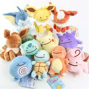 Pokemon-Flareon-Pikachu-Plush-Vaporeon-Doll-Transform-Ditto-Metamon-Spuirtle-Toy