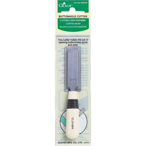 CLOVER BUTTON HOLE CUTTER WHITE PLASTIC 484//W SEWING QUILTING