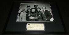 Bubba Smith Signed Framed 16x20 Check & Photo Display Police Academy