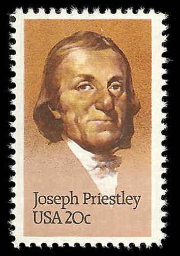 1983 20c Joseph Priestley, Oxygen Scott 2038 Mint F/VF