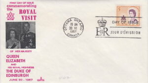 CANADA-471-5-ROYAL-VISIT-ON-CAPITAL-CACHET-FIRST-DAY-COVER
