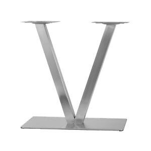 Details Zu Edelstahl Tischgestell Modell V Untergestell Tischfuß Bistrotisch Gastro Tisch