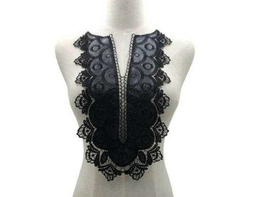 Ex Large Faux Leather Collar  Embroidered Sew on Yoke Applique Patches  #41