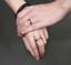 Coppia-Fedi-Fede-Fedine-Anello-Anelli-Fidanzamento-Nuziali-Cristallo-Oro-Acciaio miniatura 6