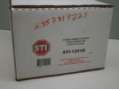 STI STI-1221D Strobe Damage Stopper /& Open Backbox with Conduit Knockouts