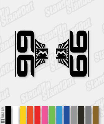 MARZOCCHI 2014 Style 55 Décalques//Autocollants-CUSTOM//Fluorescent Couleurs
