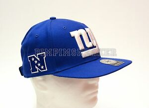 Image is loading New-York-Giants-Adjustable-Flat-Brim-Hat-888442797074 cf7bd5bc695