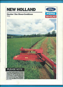 Details about FORD NEW HOLLAND 411 DISCBINE DISC MOWER-CONDITIONER 8 PAGE  BROCHURE 1988
