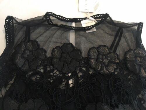 S ricamato in Ladies Xl Nwt M pizzo Foxiedox da Xs L Cocktail Sacha e Abito nero PwR8xqn