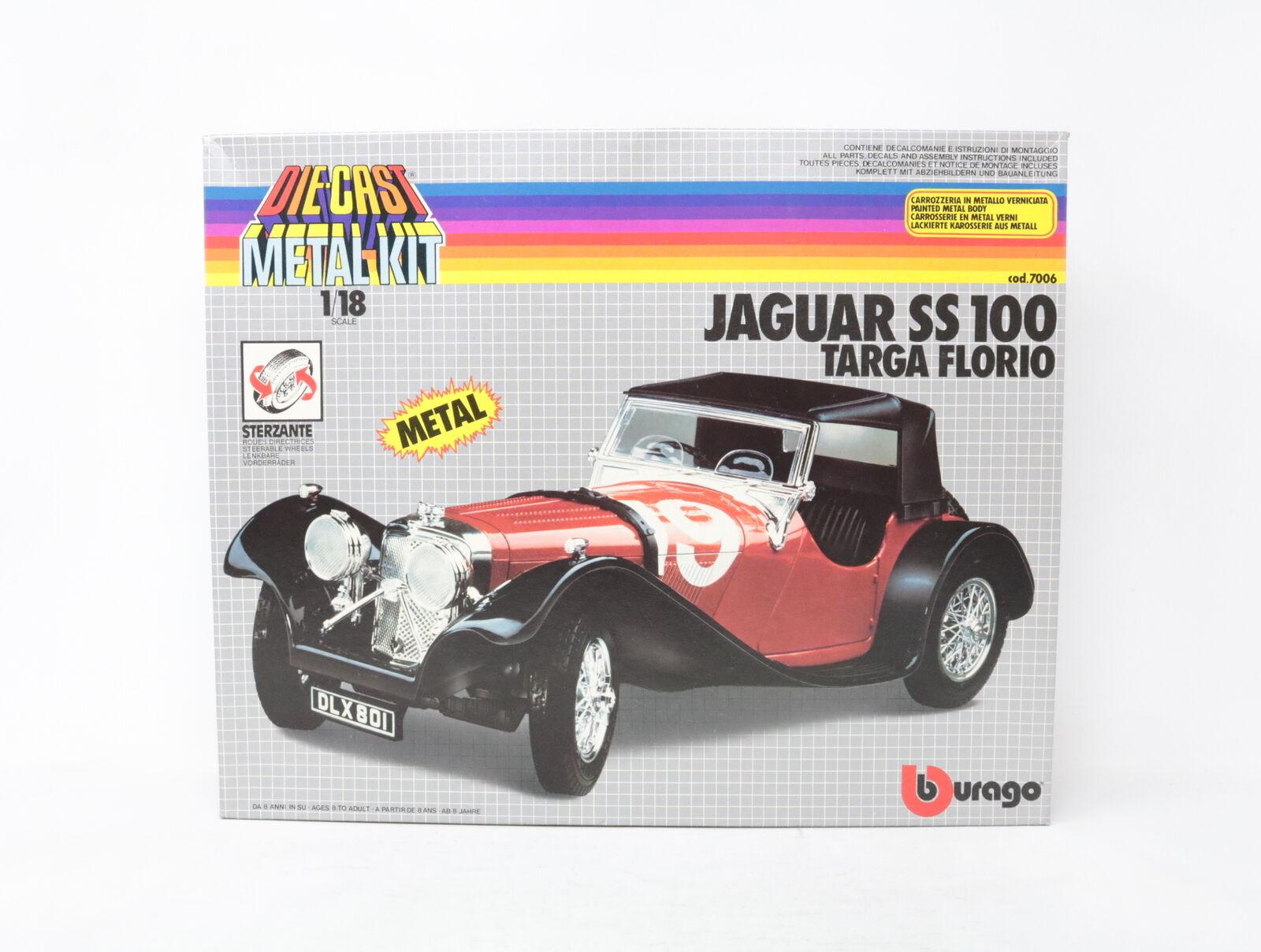 1 18 BBURAGO METAL KIT JAGUAR SS100 TARGA FLORIO cod. 7006  [YQ018]