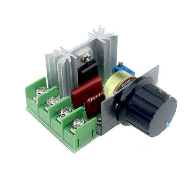 HR- 2000W AC 50-220V 25A PWM Voltage Regulator Adjustable Motor Speed Controller