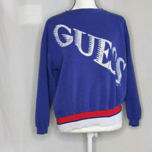Guess Spellout Sweatshirt One Size Vintage Purple