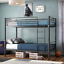 Metal-Bunk-Beds-Frame-Twin-Over-Twin-Size-Ladder-Kid-Teen-Adults-Split-2-Beds thumbnail 7