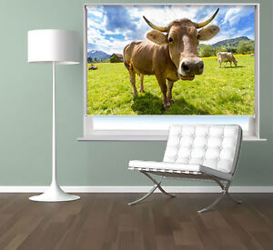 The-Cow-Farm-Animal-Photo-Printed-Picture-Roller-Blind-Blackout-Window-Blind